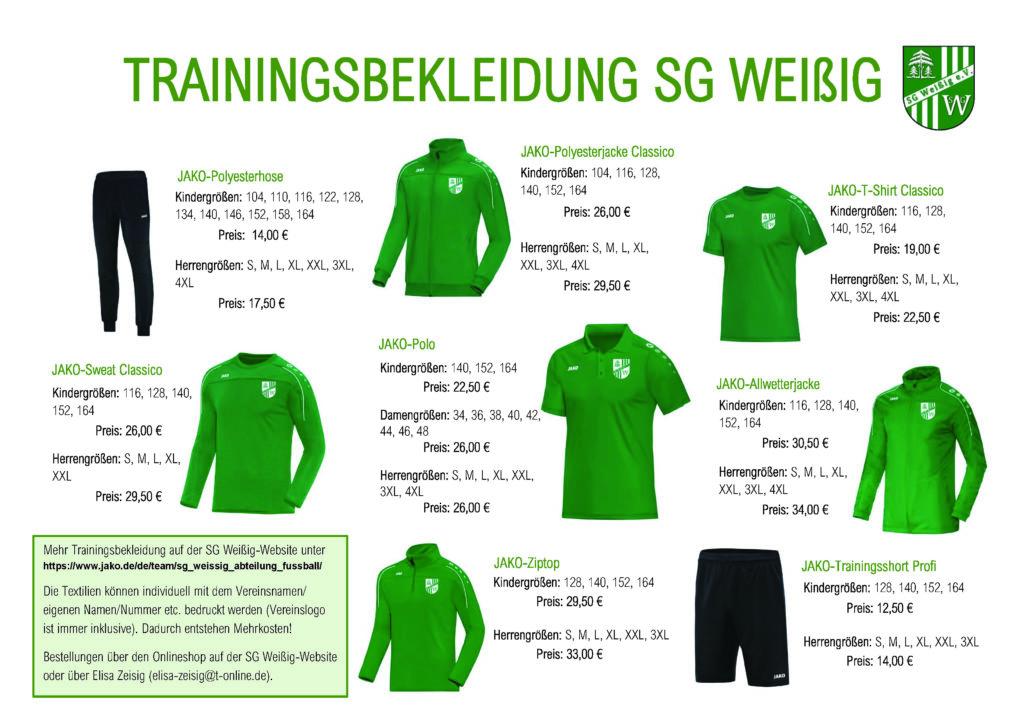 Trainingskleidung bestellen